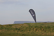 Connacht Golf tear drop at the 1st tee with Ben Bulbin in the background during Round 3 of The West of Ireland Open Championship in Co. Sligo Golf Club, Rosses Point, Sligo on Saturday 6th April 2019.<br /> Picture:  Thos Caffrey / www.golffile.ie
