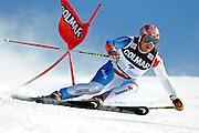 © Filippo Alfero<br /> Sestriere (TO), 21/02/2009<br /> sport , sci alpino<br /> Coppa del Mondo di Sci 2008/2009 - Sestriere - Slalom Gigante<br /> Nella foto: Didier Cuche (SUI) - primo classificato<br /> <br /> © Filippo Alfero<br /> Sestriere, Italy, 21/02/2009<br /> sport, alpine ski<br /> FIS Ski World Cup 2008/2009 - Sestriere - Giant Slalom<br /> In the photo: Didier Cuche (SUI) - first classified