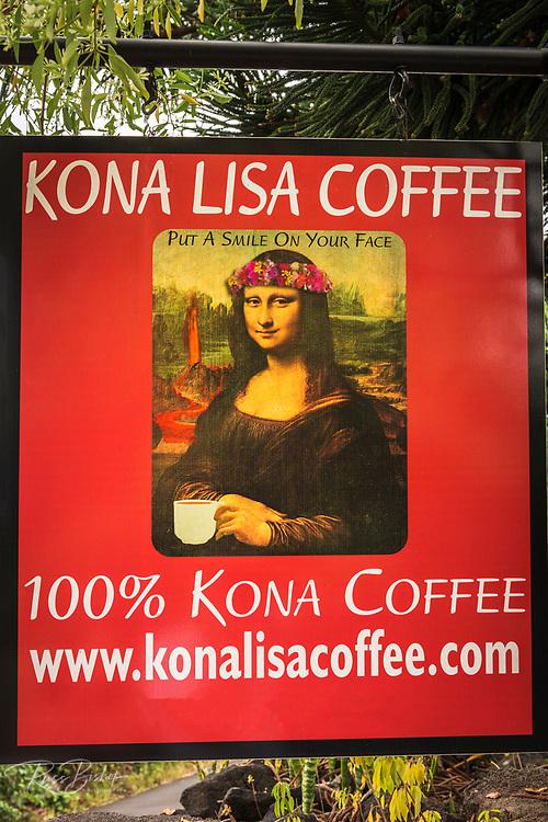 Kona Lisa Coffee company, Captain Cook, The Big Island, Hawaii USA