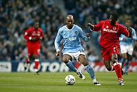 Fotball, 30. november 2003, Premier League, Manchester City - Middlesbrough 0-1,  Nicolas Anelka, Manchester City og George Boateng, Middlesbrough