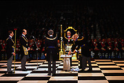 Prince Michael of Kent leads Freemasons at Earls Court in London UK for a mass gathering. Freemasonry, which traces it's modern origins back to the sixteenth century is beased on principles of fraternity and secrecy. Members are sworn to keep silent on their activities and make themselves known to other Freemason's by way of signal (often a handshake).