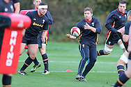 Leigh Halfpenny  of Wales (c) in action. Wales rugby team training at the Vale Resort, Hensol, Vale of Glamorgan, in South Wales on Thursday 3rd November 2016, the team are preparing for their match against Australia this weekend. pic by Andrew Orchard, Andrew Orchard sports photography