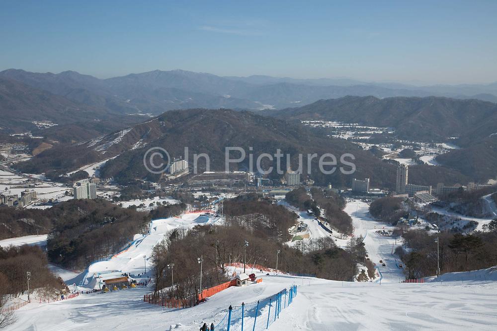 The boardercross course at thePyeongchang 2018 Winter Olympics on February 15th 2018, at the Phoenix Snow Park inPyeongchang-gun, South Korea.