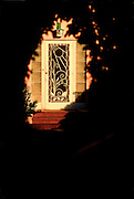 An Art Deco screen door on a home in South Beach's Flamingo Park neighborhood.