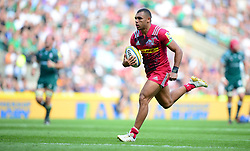 Joe Marchant of Harlequins runs in a try. - Mandatory by-line: Alex James/JMP - 02/09/2017 - RUGBY - Twickenham Stadium - London, England - London Irish v Harlequins - Aviva Premiership