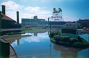 CS00028-08. Union Station in the aftermath of the Columbia River flood of May 30, 1948. Heidelberg Beer sign