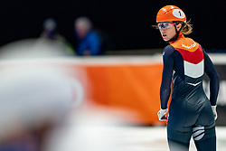 Suzanne Schulting of Netherlands in action on 500 meter during ISU World Short Track speed skating Championships on March 05, 2021 in Dordrecht