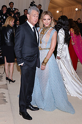 David Foster and Katharine McPhee walking the red carpet at The Metropolitan Museum of Art Costume Institute Benefit celebrating the opening of Heavenly Bodies : Fashion and the Catholic Imagination held at The Metropolitan Museum of Art  in New York, NY, on May 7, 2018. (Photo by Anthony Behar/Sipa USA)
