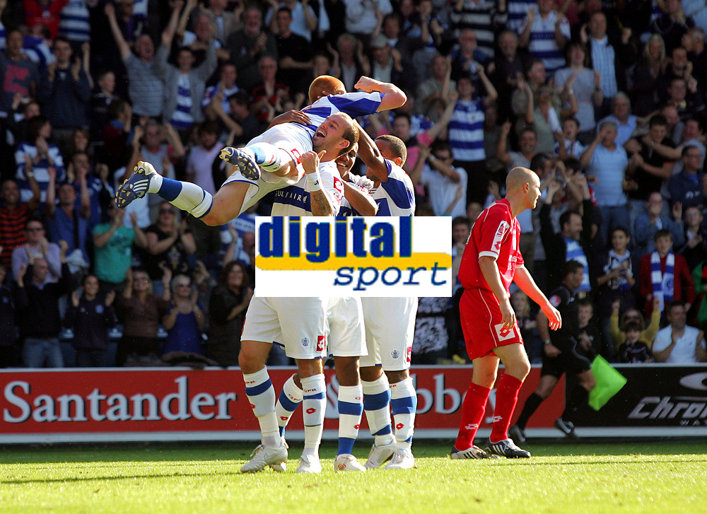 Photo: © Andrew Fosker / Richard Lane Photography -  Ben Watson is hoisted into the air by Rowan Vine as QPR celebrate their fourth goal -  Queens Park Rangers v Barnsley - Coca-Cola Championship - 26/09/09 Loftus Road - London -  UK - All Rights Reserved