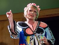Artist Grayson Perry answers questions after giving the Inaugural Donaldson Lecture in a new series celebrating architecture and education for the Bartlett School of Architecture UCL.<br />  Conway Hall, Red Lion Square, London.
