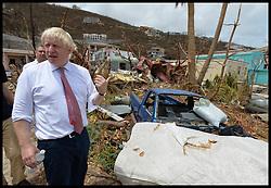 September 13, 2017 - Caribbean, Anguilla - BORIS JOHNSON visits Storm hit British Virgin Islands after Hurricane Irma hit the British Virgin Islands and Anguilla.  (Credit Image: © Andrew Parsons/i-Images via ZUMA Press)