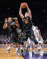 Baylor center Josh Lomers (50) grabs a defensive rebound, during the second half against Kansas State at Bramlage Coliseum in Manhattan, Kansas, January 17, 2007. K-State beat Baylor 69-60.