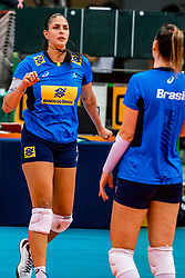 06-10-2018 JPN: World Championship Volleyball Women day 7, Nagoya<br /> Press conference coaches group Nagoya after training day for Netherlands and Brazil / Ana Beatriz Correa #20 of Brazil