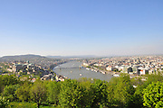 Hungary, Budapest, The Danube River, The Chain Bridge in the background