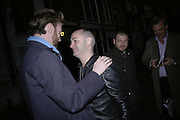 Gary Waterston and Douglas Gordon, Philippe Parreno  exhibition opening at Haunch of Venison. After party drinks at Sketch. 4 April 2007.  -DO NOT ARCHIVE-© Copyright Photograph by Dafydd Jones. 248 Clapham Rd. London SW9 0PZ. Tel 0207 820 0771. www.dafjones.com.