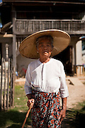 A Burmese woman in Hsipaw, Myanmar.<br />