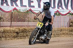 Ken Bon racing his 1973 Harley-Davidson Ironhead Sportster XLCH at the Bradford Beach Brawl, a TROG style beach racing event, during the Harley-Davidson 115th Anniversary Celebration event. Milwaukee, WI. USA. Friday August 31, 2018. Photography ©2018 Michael Lichter.