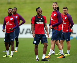 England's Raheem Sterling and team mates  - Mandatory by-line: Matt McNulty/JMP - 29/08/2017 - FOOTBALL - St George's Park National Football Centre - Burton-upon-Trent, England - England Training and Press Conference