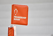 General view of a corner flag before The Premiership Rugby Cup Final at The AJ Bell Stadium, Eccles, Greater Manchester, United Kingdom, Monday, September 21, 2020. (Steve Flynn/Image of Sport)