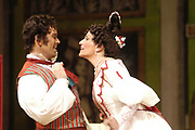 Miami, FL - Febuary 9th, 2006 - Rosina played by Phyllis Pancella and Figaro played by Aaron St. Clair Nicholson in the Florida Grand Opera presentation of Gioacchino Rossini's Il barbiere di Siviglia (The Barber of Seville). This prequel to Mozart's La Nozze di Figaro follows the tales and follies of Figaro, the most famous barber in all of opera. (El Nuevo Herald/Gaston De Cardenas)