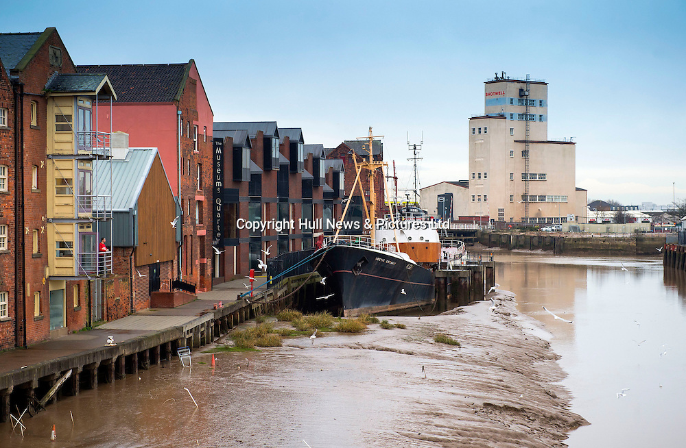 12 January 2017: The Arctic Corsair, a trawler berthed in the River Hull, in the city's museum quarter. It is now a visitor attraction.<br /> Picture: Sean Spencer/Hull News & Pictures Ltd<br /> 01482 210267/07976 433960<br /> www.hullnews.co.uk         sean@hullnews.co.uk