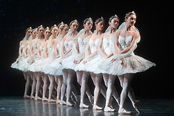 La Bayadere <br /> A ballet in three acts <br /> Choreography by Natalia Makarova <br /> After Marius Petipa <br /> The Royal Ballet <br /> At The Royal Opera House, Covent Garden, London, Great Britain <br /> General Rehearsal <br /> 30th October 2018 <br /> <br /> STRICT EMBARGO ON PICTURES UNTIL 2230HRS ON THURSDAY 1ST NOVEMBER 2018 <br /> <br /> The Shades <br /> <br /> Photograph by Elliott Franks Royal Ballet's Live Cinema Season - La Bayadere is being screened in cinemas around the world on Tuesday 13th November 2018 <br /> --------------------------------------------------------------------