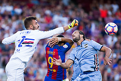 August 10, 2016 - Barcelona, Spain - 51st edition of the Joan Gamper Trophy between FC Barcelona and Sampdoria. Camp Nou, Barcelona, Spain. August 10th., 2016. Barça win 3-2  thanks to goals from Messi (2) and Luis Suárez. Budimir and Muriel for Sampdoria (Credit Image: © Eric Alonso /  Media Expres/VW Pics via ZUMA Wire)