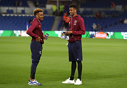 West Ham Uniteds Reece Oxford (right) and Grady Diangana walk the pitch prior to the Premier League match at the AMEX Stadium, Brighton.