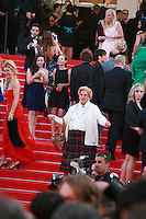 Mrs Brown on the red steps at Sils Maria gala screening red carpet at the 67th Cannes Film Festival France. Friday 23rd May 2014 in Cannes Film Festival, France.