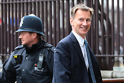 © Licensed to London News Pictures. 13/06/2019. London, UK. Foreign Secretary Jeremy Hunt, who is running to be the next Leader of the Conservative Party and Prime Minister, arrives at Parliament for the results of the first round of the leadership vote. Photo credit: Rob Pinney/LNP