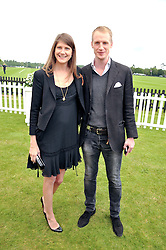 PRINCESS FLORENCE VON PREUSSEN and NICK KINDER at the Cartier Queen's Cup Polo Final, Guards Polo Club, Windsor Great Park, Berkshire, on 17th June 2012.