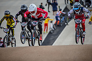 #210 (CHRISTENSEN Simone Tetsche) DEN and #141 (VAUGHN Daleny) USA at Round 3 of the 2020 UCI BMX Supercross World Cup in Bathurst, Australia.