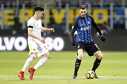 January 21, 2018 - Rome, Italy - Olympic Stadium, MILAN, Italy - 21/01/2018..(L-R) Stephan El Shaarawy of Roma challenges Davide Santon of Inter Milan during their Italian Serie A soccer match...Credit: Giampiero Sposito/Pacific Press (Credit Image: © Giampiero Sposito/Pacific Press via ZUMA Wire)
