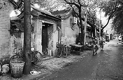 View of houses in a traditional old Beijing hutong