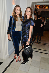 Left to right, sisters LADY ALICE MANNERS and LADY VIOLET MANNERS at the Tatler Little Black Book Party held at Home House Private Member's Club, Portman Square, London supported by CARAT on 6th November 2014.