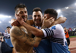 March 2, 2019 - Rome, Lazio, Italy - SS Lazio v As Roma : Serie A.Lazio celebration at Olimpico Stadium in Rome, Italy on March 2, 2019. (Credit Image: © Matteo Ciambelli/NurPhoto via ZUMA Press)