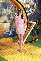 Danielle Lloyd, Oz The Great and Powerful European Film Premiere, Empire Cinema Leicester Square, London UK, 28 February 2013, (Photo by Richard Goldschmidt)