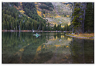 A perfect reflection in Jenny Lake, Grand Teton National Park; Wyoming; USA