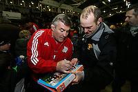 Rugby Union - 2012 Rugby Legends Match - British & Irish Legends vs. French Legends.Jason Leonard signs autographs at Twickenham Stoop, London