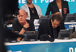 "Celebrities at the ""Hand to hand"" telethon in Times square, New York City. 12 Sep 2017 Pictured: Bruce Wilis, Al Pacino. Photo credit: MEGA TheMegaAgency.com +1 888 505 6342"
