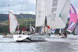 The Silvers Marine Scottish Series 2014, organised by the  Clyde Cruising Club,  celebrates it's 40th anniversary.<br /> Day 1, K3797, Drum, Sir Arnold Clark, CCC, Holland 77<br /> <br /> Racing on Loch Fyne from 23rd-26th May 2014<br /> <br /> Credit : Marc Turner / PFM