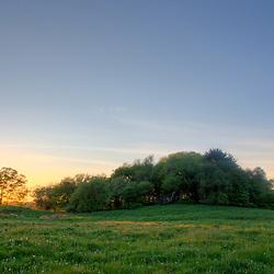 Sunset at a farm in Ipswich, Massachusetts.