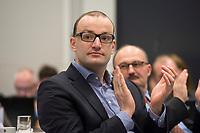 """26 MAR 2012, BERLIN/GERMANY:<br /> Jens Spahn, MdB, CDU, Kongress der CDU/CSU-Bundestagsfraktion """"Krisen vorbeugen - Finanzaufsicht staerken"""", Sitzungssaal CDU/CSU-Bundestagsfraktion, Deutscher Bundestag<br /> IMAGE: 20120326-01-012"""