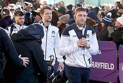 Scotland's Finn Russell arrives for the NatWest 6 Nations match at BT Murrayfield, Edinburgh.