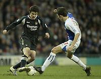 Photo: Aidan Ellis.<br /> Blackburn Rovers v Manchester City. The FA Cup. 11/03/2007.<br /> City's Joey Barton (L) and Rovers Matt Derbyshire