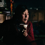 Life at Mr and Ms Wangchuk's house on the edge of the Laya village.