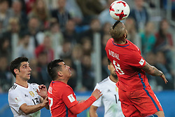 July 2, 2017 - Saint Petersburg, Russia - Arturo Vidal of the Chile national football team vie for the ball during the 2017 FIFA Confederations Cup final match between Chile and Germany at Saint Petersburg Stadium on July 02, 2017 in St. Petersburg, Russia. (Credit Image: © Igor Russak/NurPhoto via ZUMA Press)