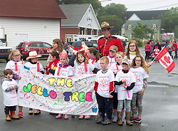 Participants wait for the start of the Canada 150 children's parade in Lockeport, N.S. on Saturday, July 1, 2017. Lockeport is a traditional Nova Scotia fishing town on the province's South Shore and was founded in 1762. Photo by Andrew Vaughan/CP/ABACAPRESS.COM