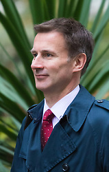 Downing Street, London, November 17th 2015. Health Secretary Jeremy Hunt arrives at Downing Street for the weekly cabinet meeting.