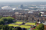 Mcc0055084 . Daily Telegraph<br /> <br /> A view of the Lawn Bowls  on Day One of the Commonwealth Games from the Bell Tower of Glasgow University .<br /> <br /> 24 July 2014